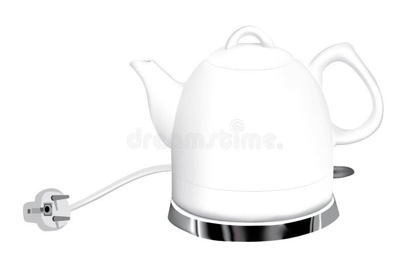 Bouilloire électrique illustration stock