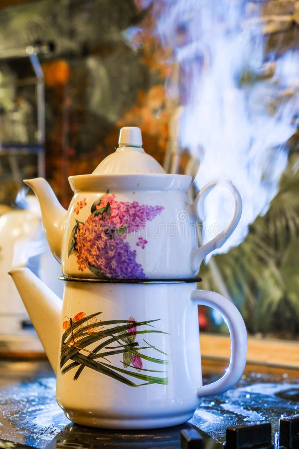 Bouilloire de thé turque photo libre de droits