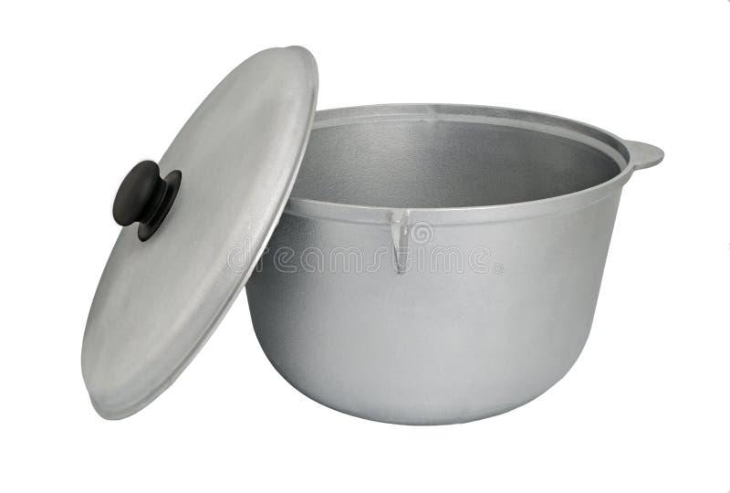 Bouilloire en aluminium photographie stock libre de droits