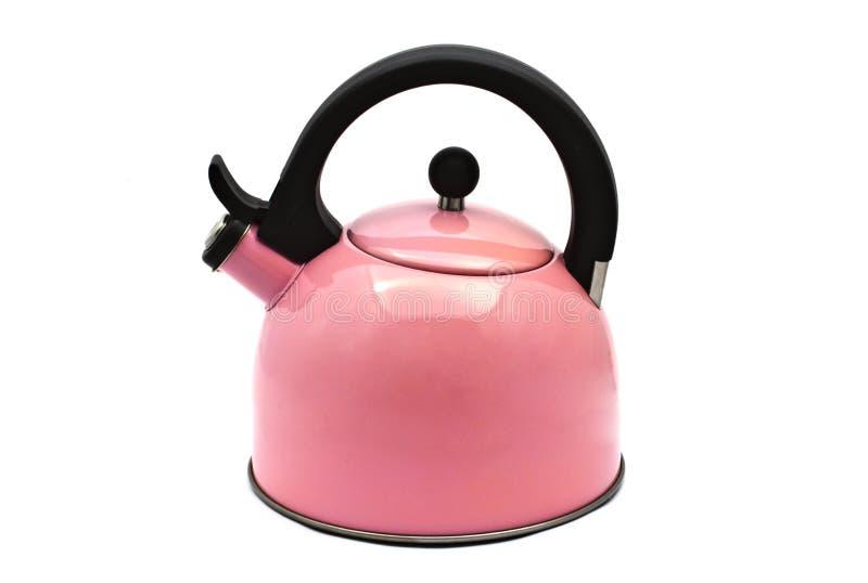 Bouilloire rose de l'eau photo stock