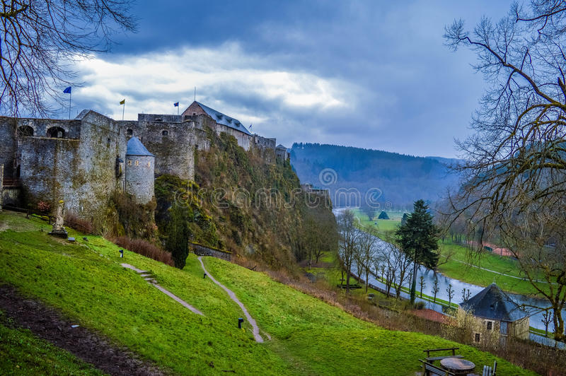 Bouillon Castle, Luxembourg, Belgium stock image