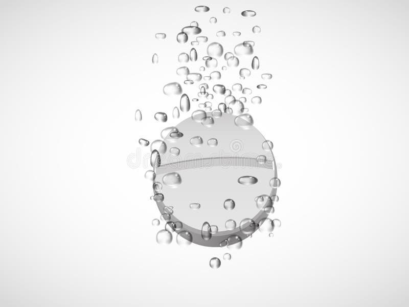 bouillonne l'eau effervescente de tablette Vecteur illustration de vecteur