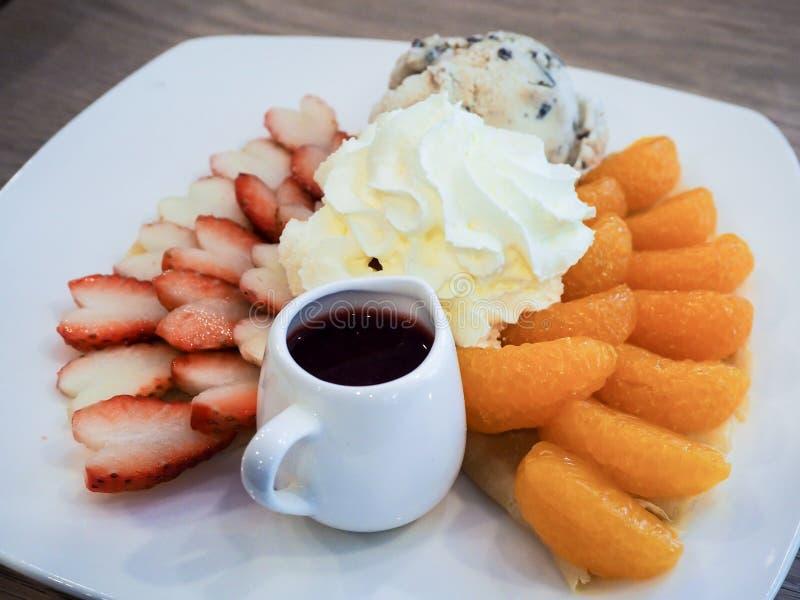 Boulangerie de gâteau de crêpe images libres de droits