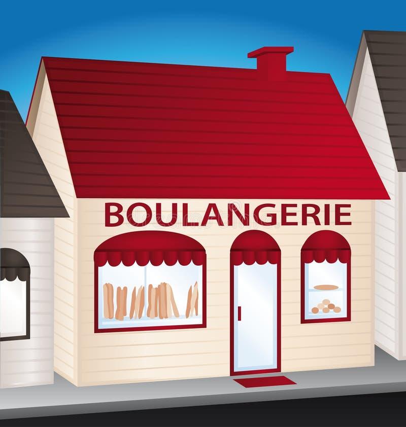 Boulangerie. Panadería francesa. ilustración del vector