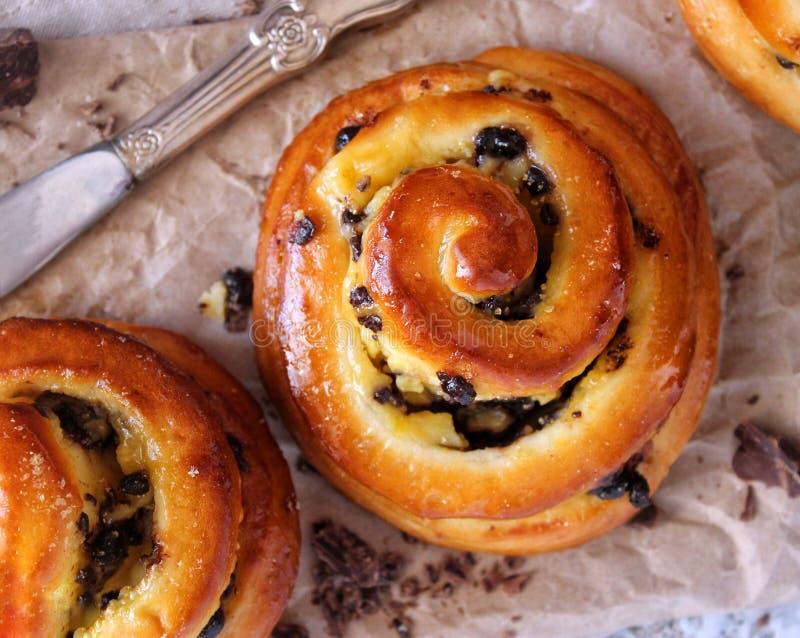 Boulangerie Rolls Pâtisseries douces Fond de métier photos libres de droits
