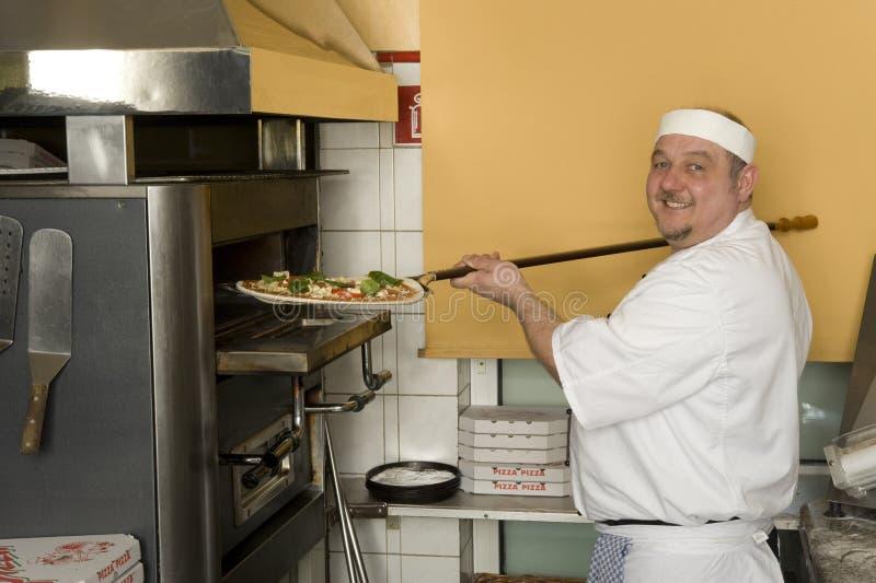 Boulangers de pizza photographie stock libre de droits
