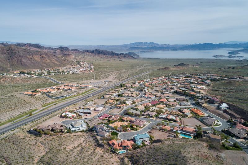 Boulder City in Nevada, United States. Boulder City is one of only two cities in Nevada that prohibits gambling stock image