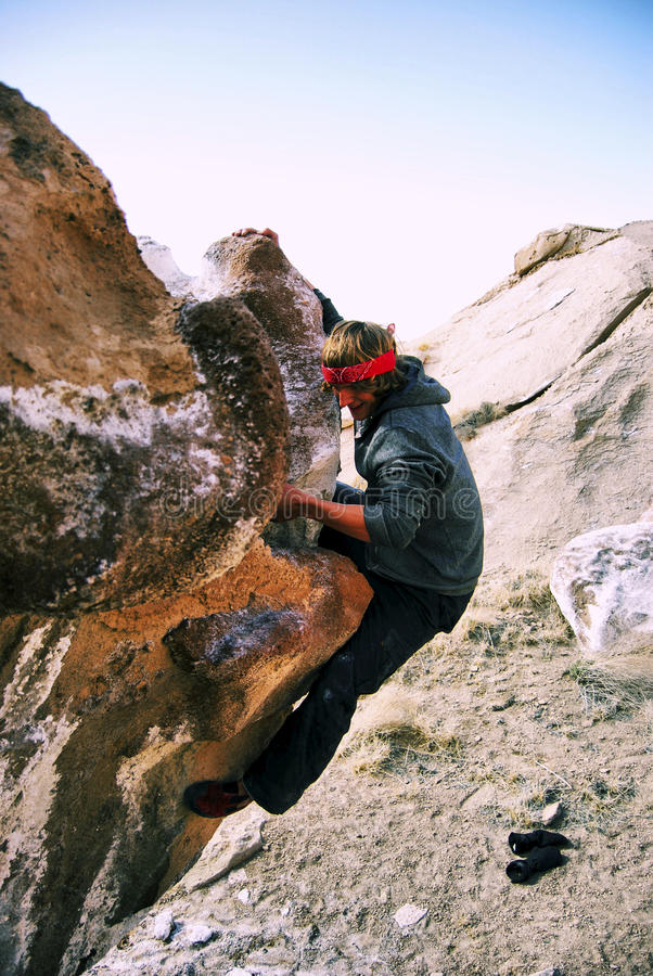 Boulder Climbing Royalty Free Stock Photo