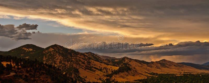 Boulder Colorado Mountain Range Panorama stock image