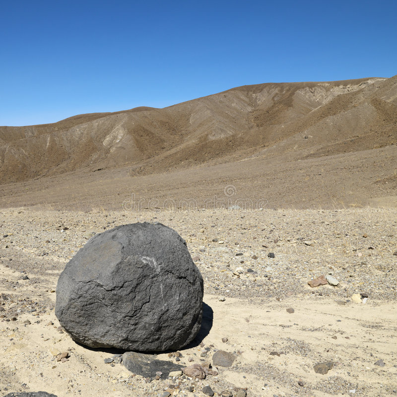 Boulder In Death Valley. Royalty Free Stock Photography