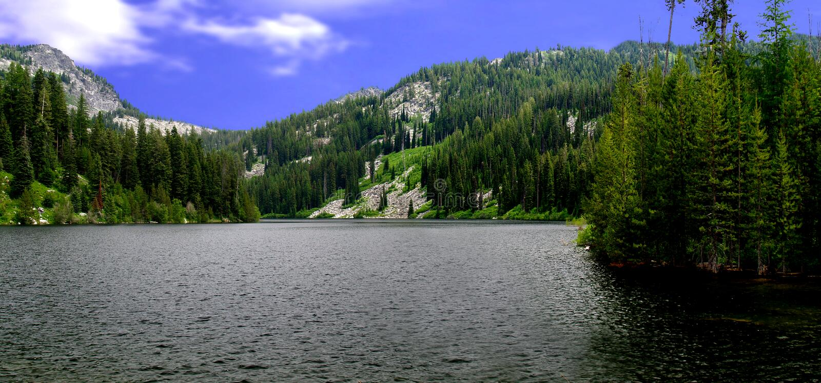 Download Boulder lake stock photo. Image of summer, scenic, trees - 1402576
