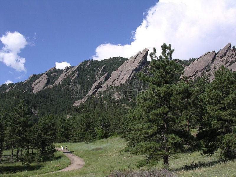 Boulder le Colorado Flatirons photos stock