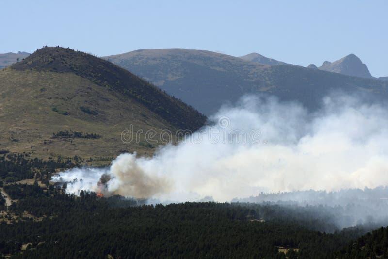 Boulder-verheerendes Feuer stockfotografie