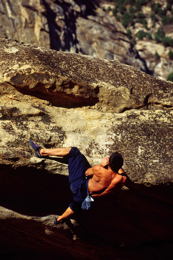 bouldering stock images