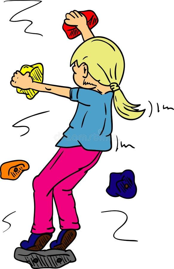 bouldering stock vector illustration of child contour 31760773 rh dreamstime com indoor rock climbing clip art free