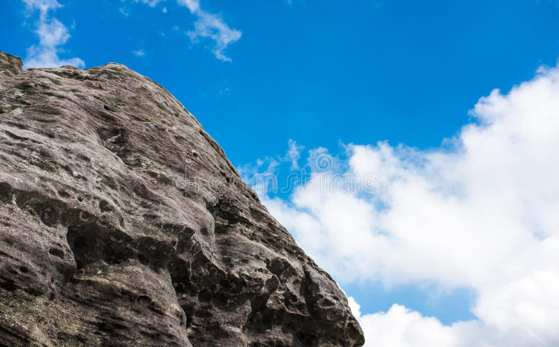 Boulders against blue sky over tranquil nature, summer in the da royalty free stock photography