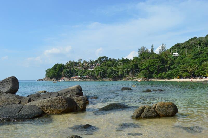 Boulders on the Beach Laem Sing.. Phuket Island. royalty free stock image