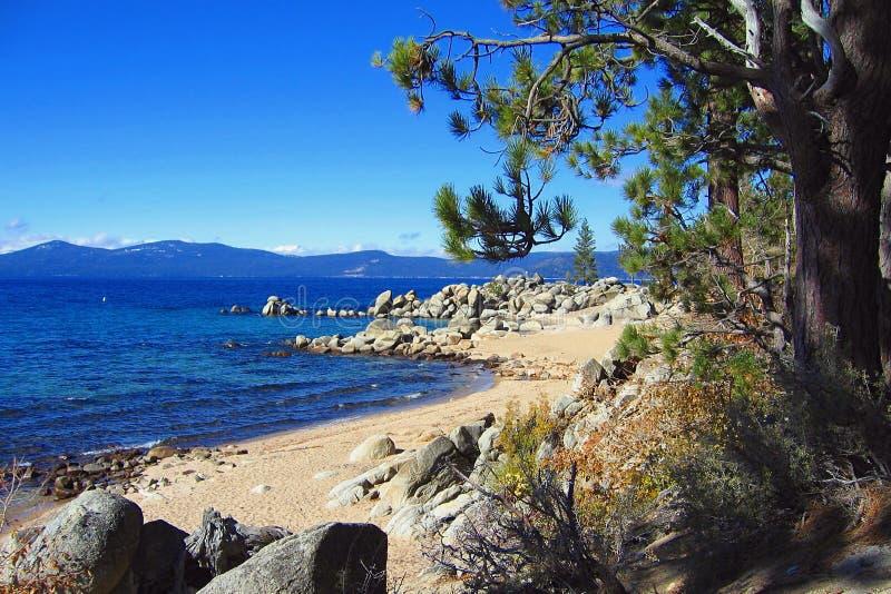 Chimney Beach, Lake Tahoe Nevada State Park, Nevada stock image
