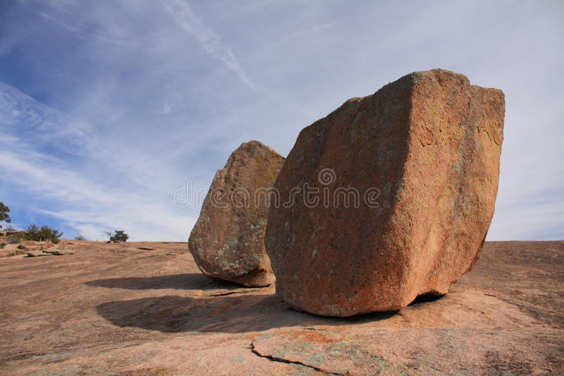 Boulders on enchanted rock stock images