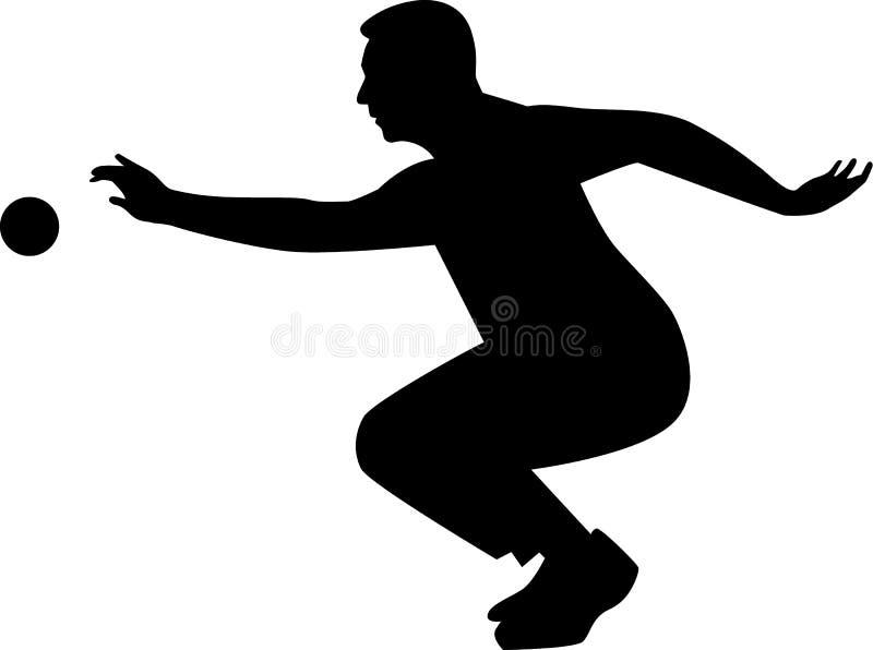 Boule игрока Bocce иллюстрация штока