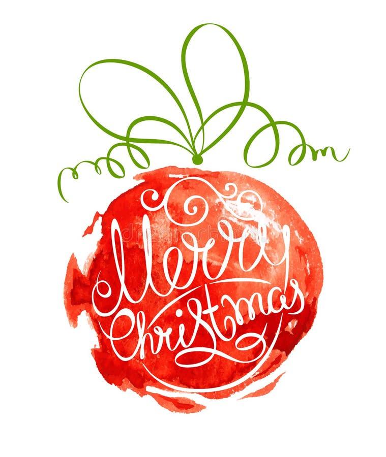 Boule abstraite de Noël d'illustration illustration libre de droits