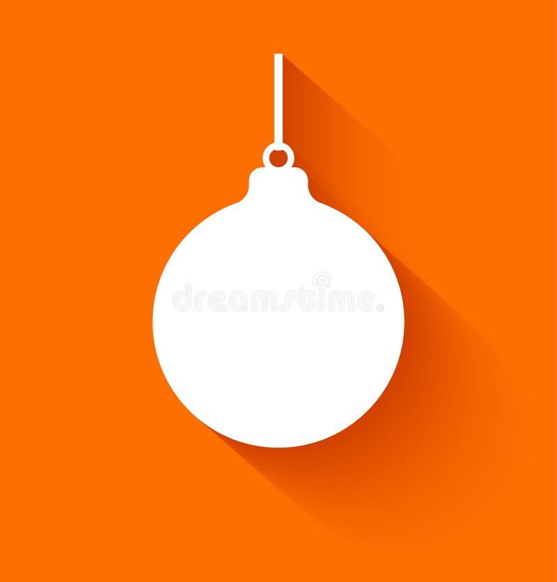 Boule abstraite de Noël sur le fond orange illustration libre de droits