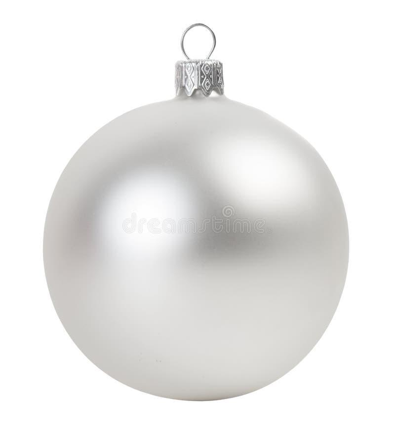 Boule argentée de Noël photographie stock