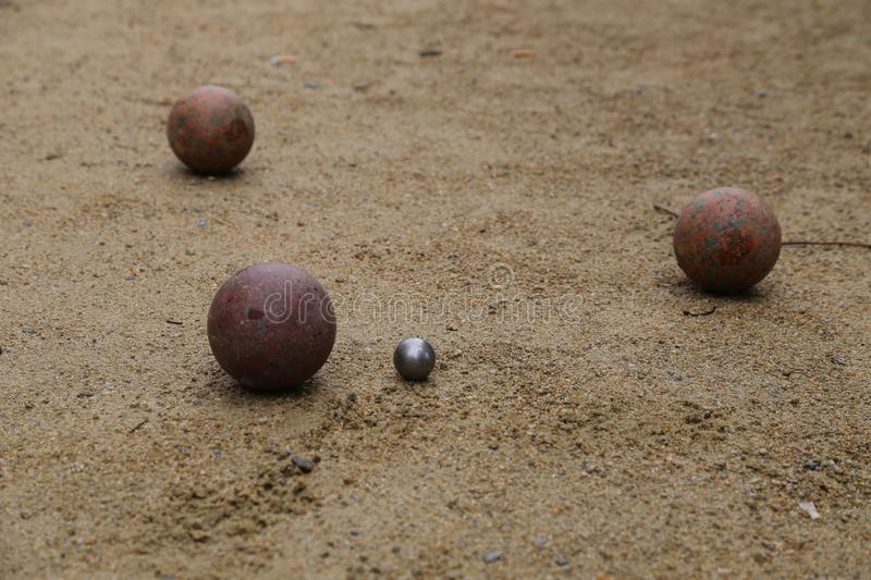 Boule balls royalty free stock images