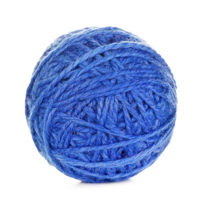 Boule bleue de fil images stock