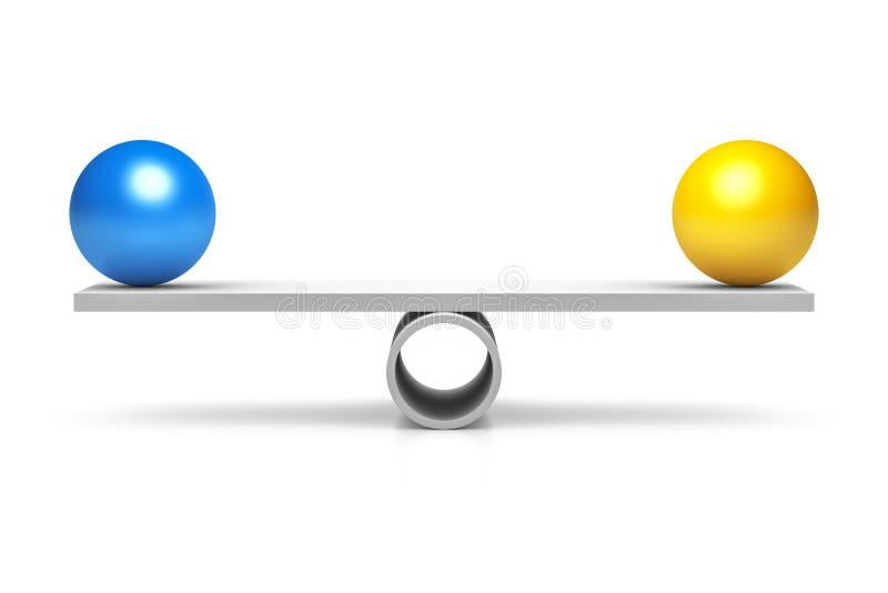 Boule bleue et jaune illustration libre de droits
