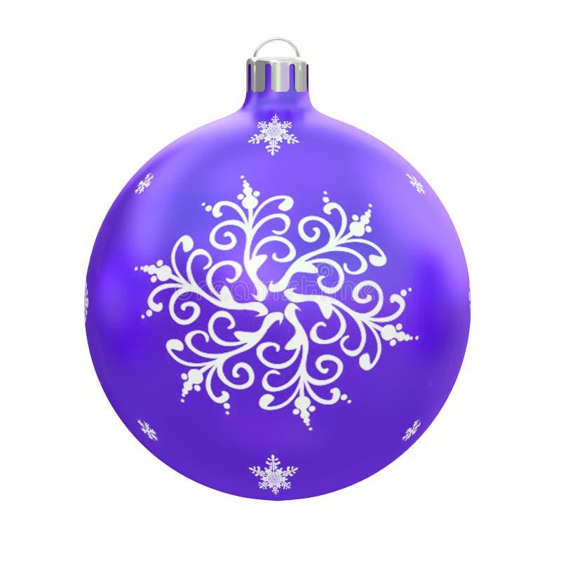 Boule colorée de Noël pour la décoration sur un arbre fond blanc et d'isolement rendu 3d illustration libre de droits