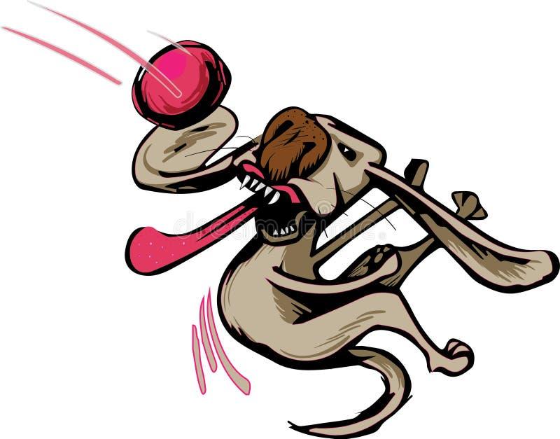Boule contagieuse de chien photos stock