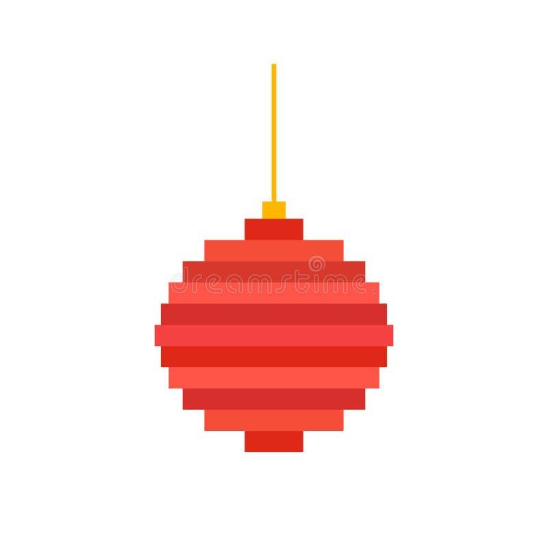 Boule Darbre De Noël Dart De Pixel Illustration De Vecteur