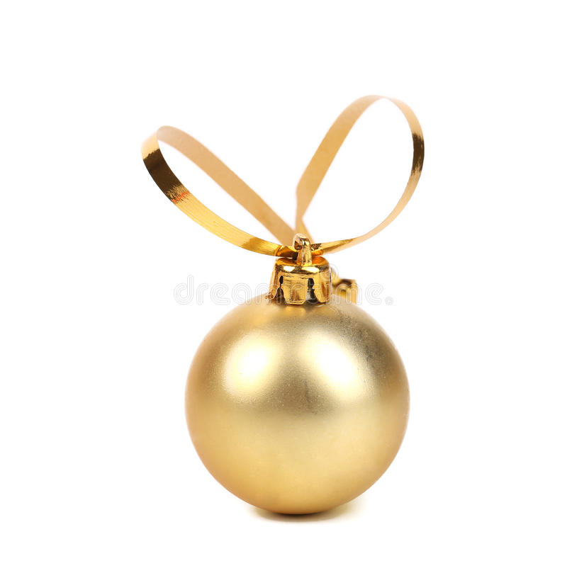 Boule d'or de Noël de decorativ. images libres de droits
