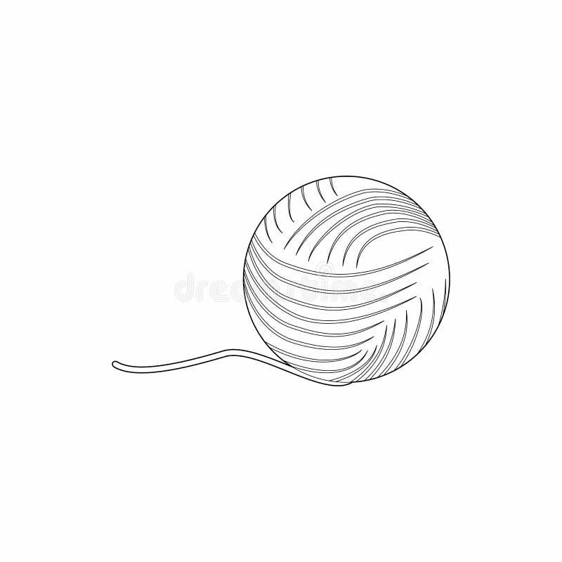 Boule d'icône de fil, style d'ensemble illustration libre de droits