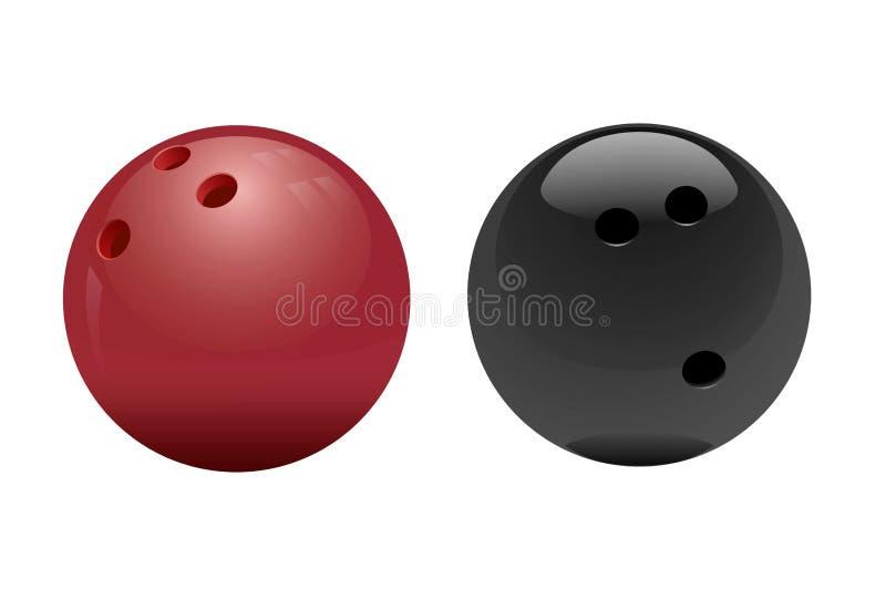 Boule de bowling sur le fond blanc photographie stock libre de droits