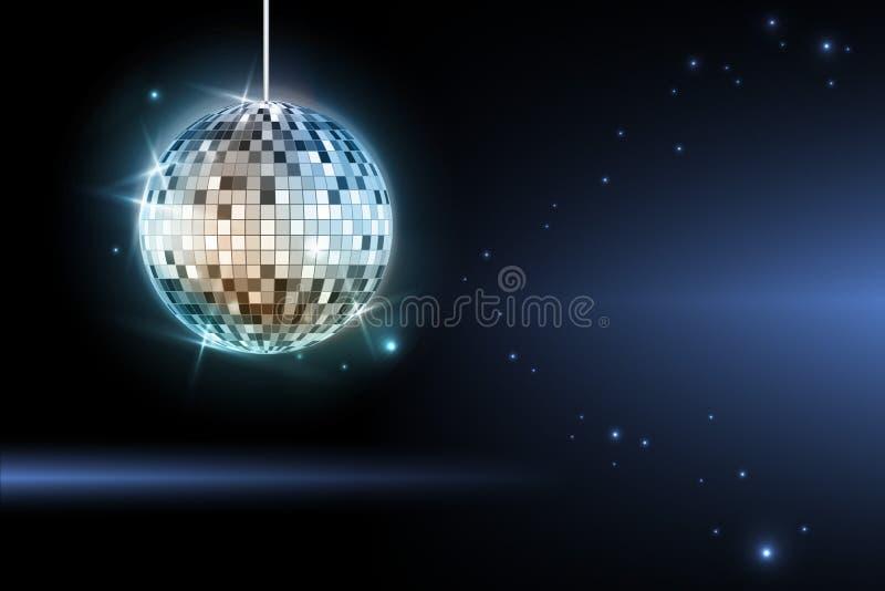 Boule de disco. Fond de disco illustration de vecteur