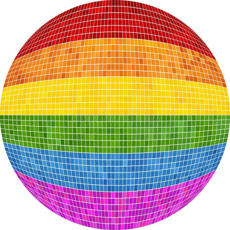 Boule de fierté gaie dans la mosaïque illustration stock
