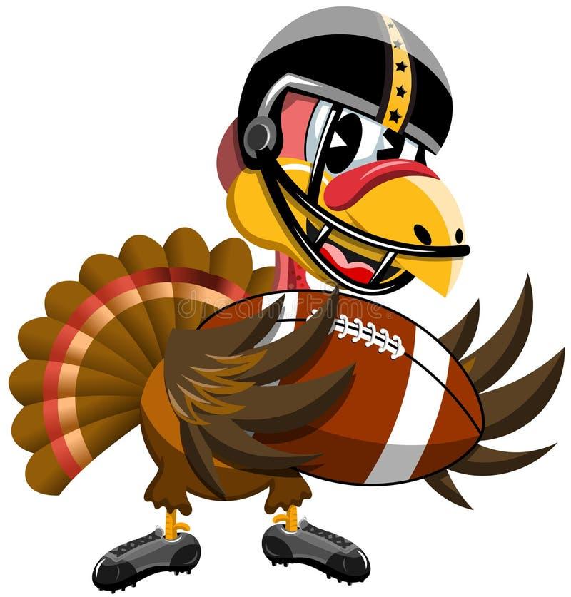 Boule de football américain de la Turquie de thanksgiving illustration de vecteur