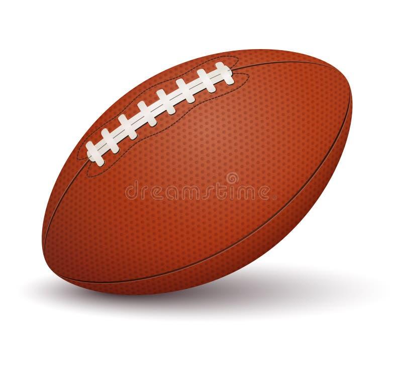 Boule de football américain sur le fond blanc illustration de vecteur