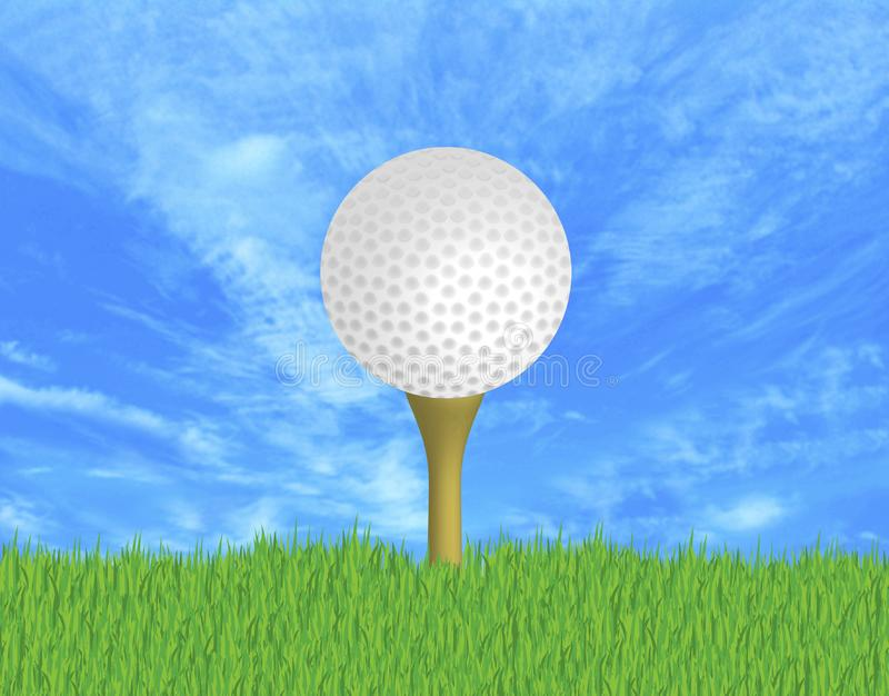 Boule de golf image stock