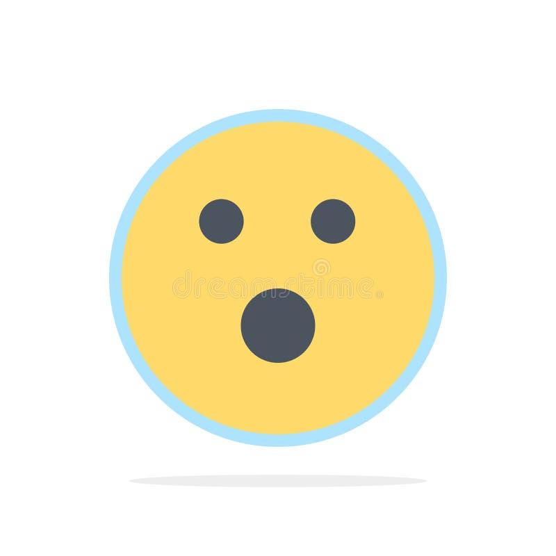 Boule de golf, faute, sport, icône plate de couleur de fond de cercle d'abrégé sur jeu illustration libre de droits