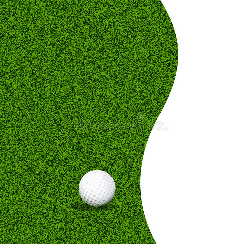 Boule de golf sur une pelouse verte illustration stock