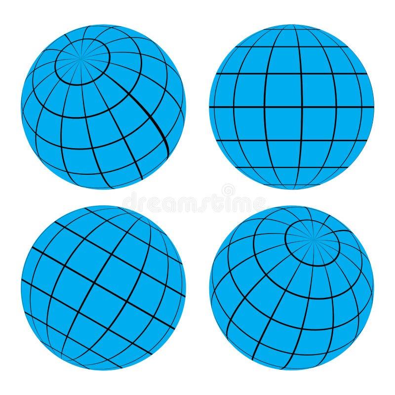 Boule de grille de globe - illustration de vecteur illustration stock