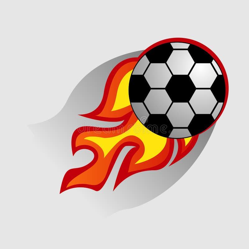 Boule de Logo Design Element du feu du football, le feu, le football, flamme, brûlure, conception, le football, illustration de vecteur