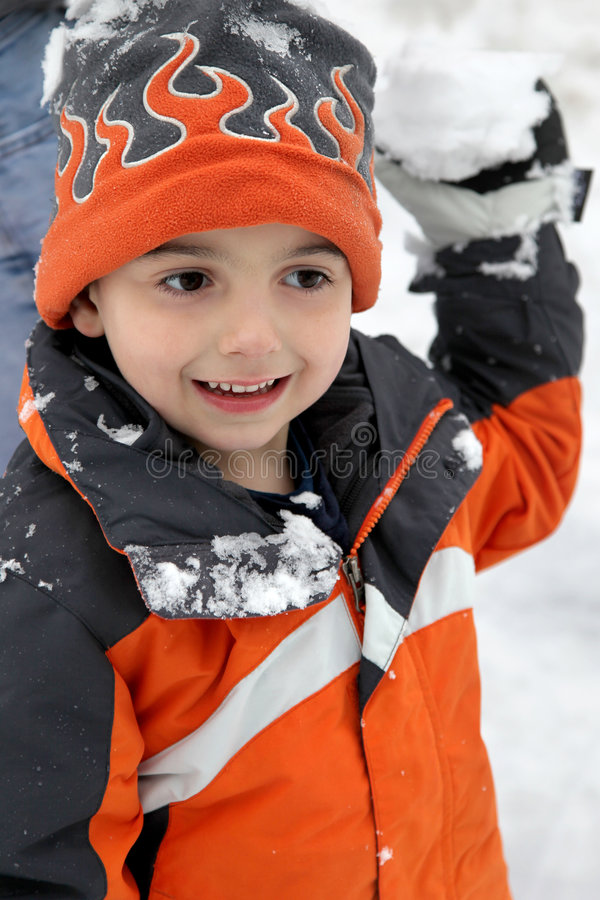 boule de neige de combat photo stock