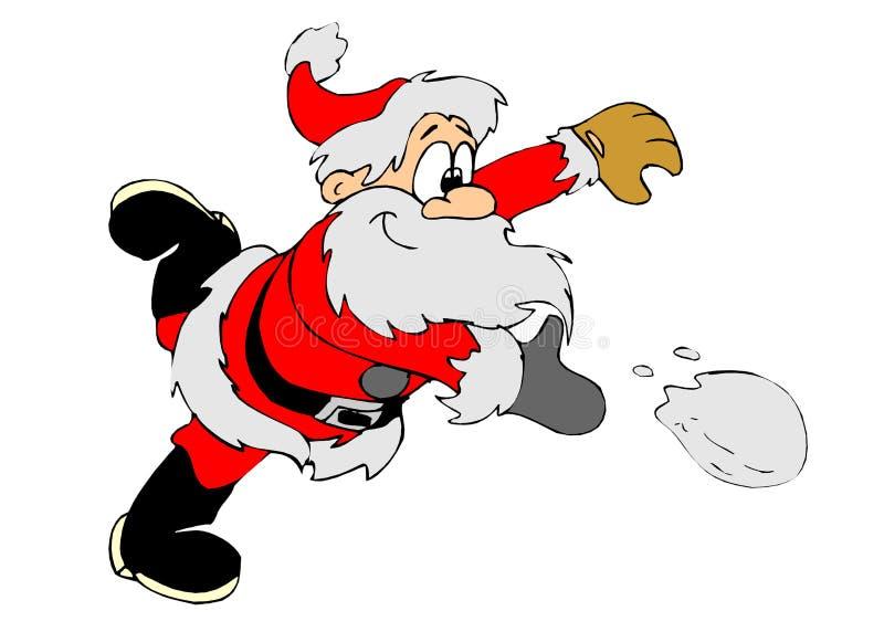 Boule de neige Santa illustration libre de droits