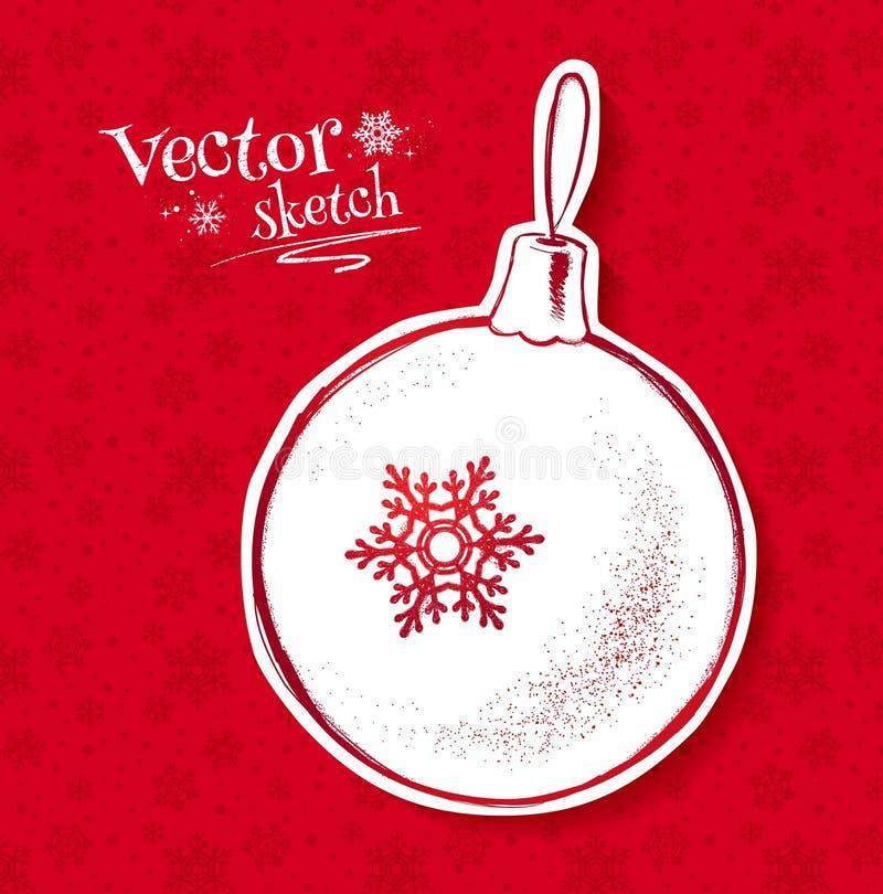Boule de Noël illustration stock