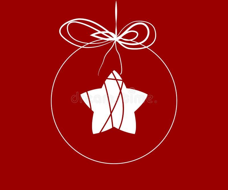 Boule de Noël avec l'étoile à l'intérieur illustration stock