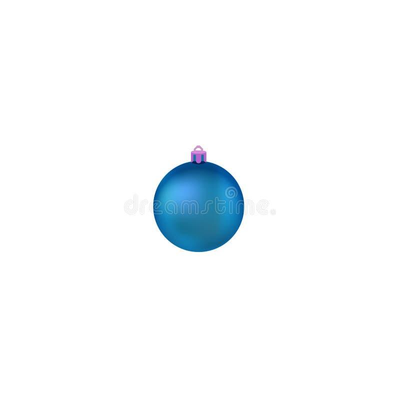 Boule de No?l Boule pour l'arbre de No?l Illustration de vecteur d?coration r?aliste d'isolement Symbole d'an neuf heureux illustration stock